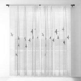 Flock of Birds Sheer Curtain