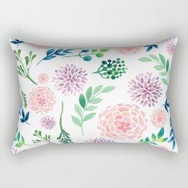 Watercolour Flowers and Nature Rectangular Pillow