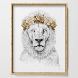 Festival lion (color version) Serving Tray