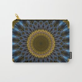 Mandala in golden and blue tones Carry-All Pouch