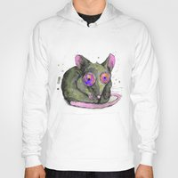rat Hoodies featuring Rat by Bwiselizzy