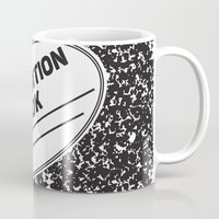 notebook Mugs featuring Composition Notebook College School Student Geek Nerd by Season of Victory