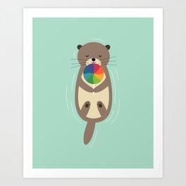 Sweet Otter Art Print