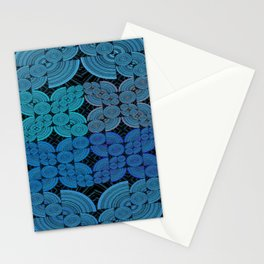 Vintage Geometric Blue Tranquility Stationery Cards