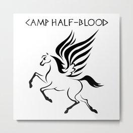 Camp Half-Blood Black Wings Metal Print