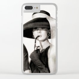 Audrey Hepburn, Vintage Actress Clear iPhone Case