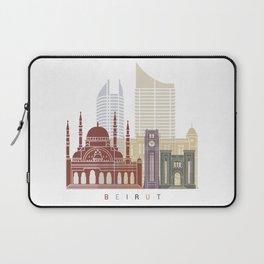Beirut skyline poster Laptop Sleeve
