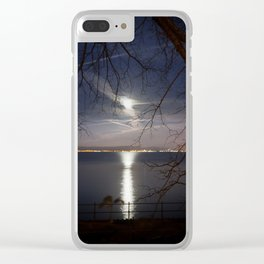 Spooky moon Clear iPhone Case