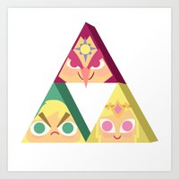 triforce Art Prints featuring triforce! by Spencer Duffy