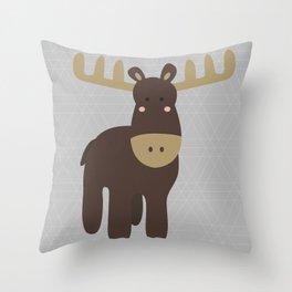 Edward the Moose Throw Pillow