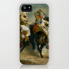 """Eugène Delacroix """"The Combat of the Giaour and Hassan"""" iPhone Case"""