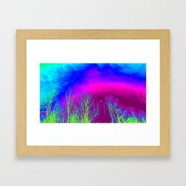 Magenta Sky Framed Art Print