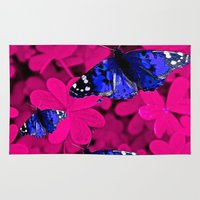 butterfly Area & Throw Rugs featuring  Butterfly  by Saundra Myles