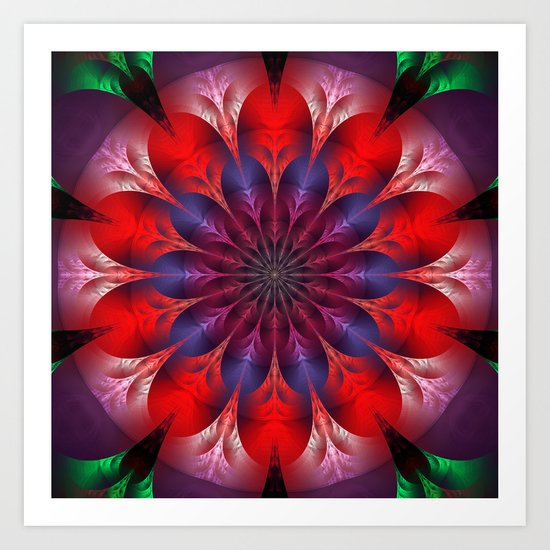 Blooming mandala Art Print