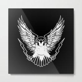 Bald Eagle With Lightnings Metal Print
