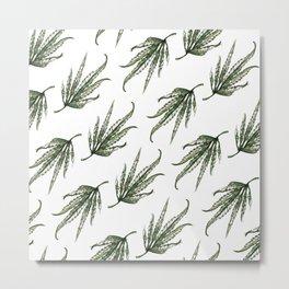 Hempsley Watercolor Leaf pattern Metal Print