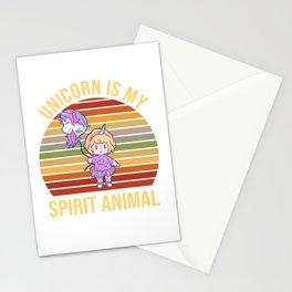 Unicorn Spirit Animal Child Costume Stationery Cards