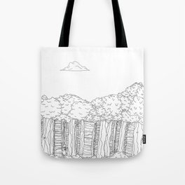 BigFoot Forest (Black and White) Tote Bag