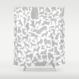 Dog a background Shower Curtain