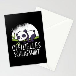 Official Panda Sleep Shirt Stationery Cards
