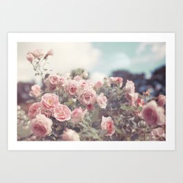 Cotton Candy Roses Art Print