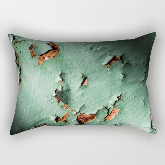 Cool turquoise brown rusty metal Rectangular Pillow
