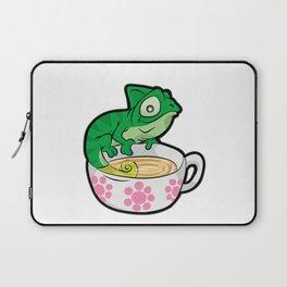 CHAMOMILEON TEA chameleon cup Gecko Cartoon Comic Laptop Sleeve