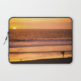 Surfer watching sunset in Southern California Laptop Sleeve