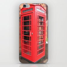 red phone call box london iPhone Skin