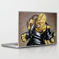resident evil Laptop & iPad Skins featuring Nemesis: Resident Evil by Patrick Scullin