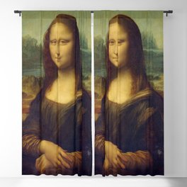 Classic Art - Mona Lisa - Leonardo da Vinci Blackout Curtain