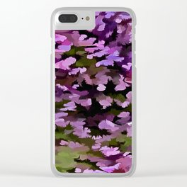 Foliage Abstract Pop Art In Ultra Violet and Purple Clear iPhone Case