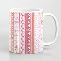 hippie Mugs featuring HIPPIE BANDANA by Nika