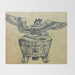 Quetzalcoatl Throw Blanket