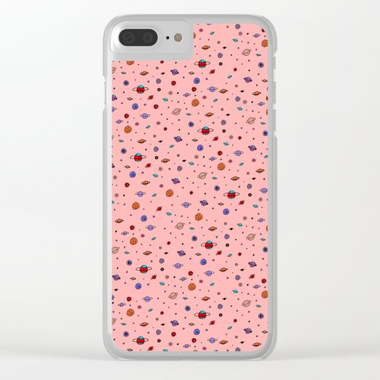 Space in color Clear iPhone Case