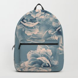 Blush Blue Peony Flower Bouquet #1 #floral #decor #art #society6 Backpack