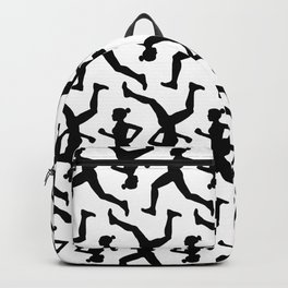 Running Girl B&W Pattern Backpack