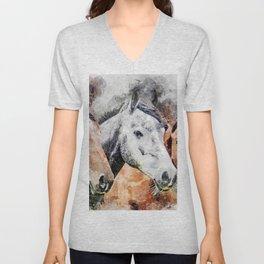 Horses Horse Head Animals Unisex V-Neck