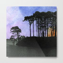 No one can gaze on the night without vertigo Metal Print