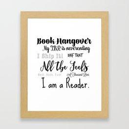 Reader Phrases Framed Art Print