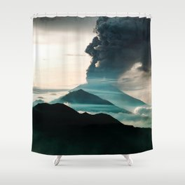 Mount Agung Volcanic Eruption Shower Curtain