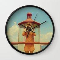 moonrise kingdom Wall Clocks featuring MOONRISE KINGDOM by VAGABOND