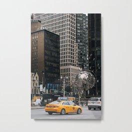 Street scene of Columbus Circle New York City Metal Print