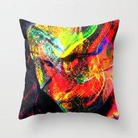 graffiti Throw Pillows featuring Graffiti !! by shiva camille
