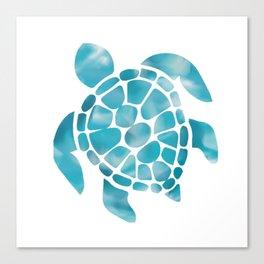 Turtle Aquamarine Art Canvas Print