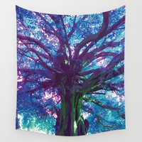 arya Wall Tapestries featuring Arya - The Tree of Life by earthspiritartdesign