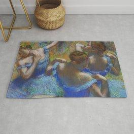 Edgar Degas - Dancers in Blue Rug