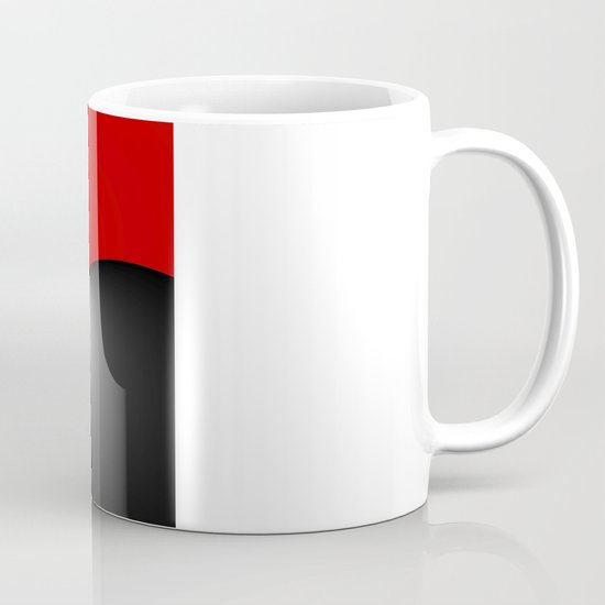 Red and Silver and Black Mug