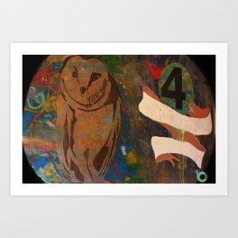 4 owl Art Print