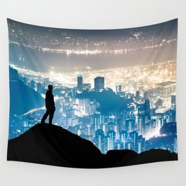 City Watcher Wall Tapestry